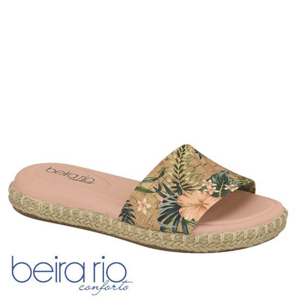 Esse modelo da Beira Rio Calçados conta com um estampa florida e delicada